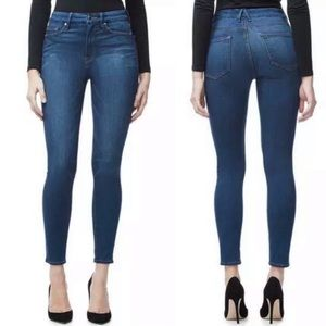 Good American Good Legs dark wash skinny jeans